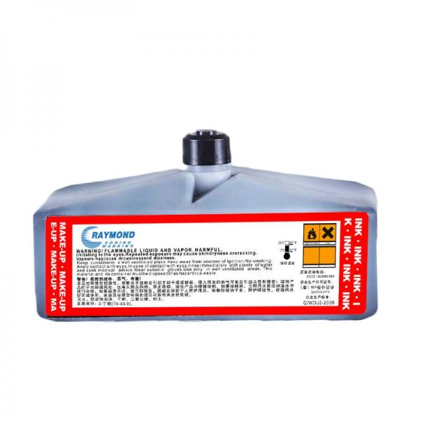 CIJ Black fast drying ink, heat resistant seal, anti-migration IC-230BK Ink for domino Inkjet Coding Printer