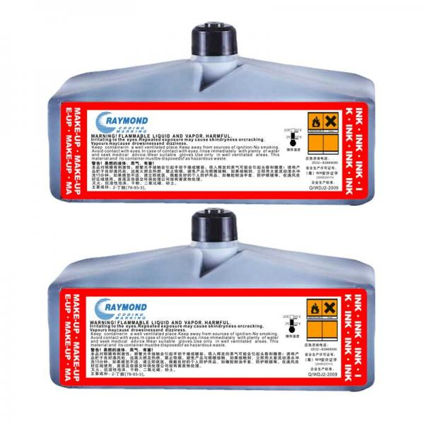 CIJ Black ink alkali washable low temperature resistant IC-234BK for domino Inkjet Coding Printer