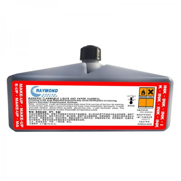 Coding machine ink IC-138BK low odor on plastic for Domino