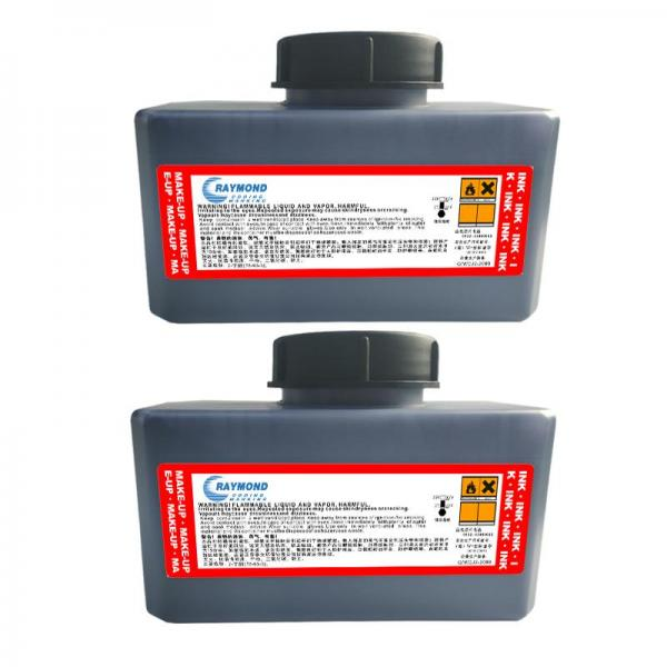 Fast drying black ink IR-270BKA printing ink on PVC for Domino