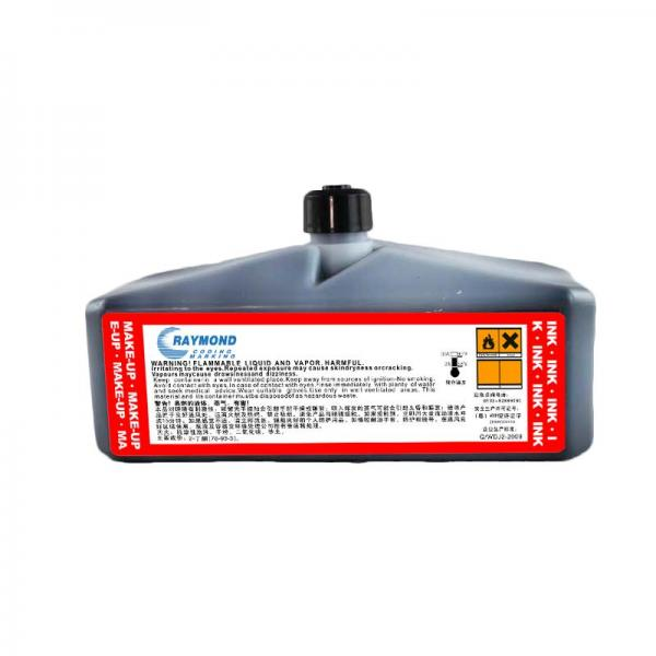 good adhesion in sorft plastic ink ic-270bk for domino printer 825ml